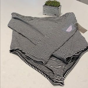 NWT ribbed off the shoulder striped bodysuit